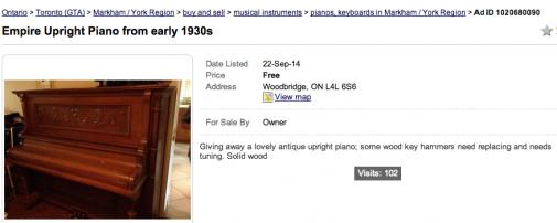 Free Piano Woodbridge