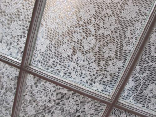 Cornstarch and Lace Window Treatment