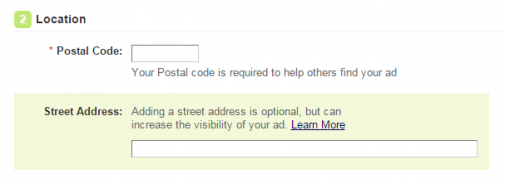 What's with mandatory postal codes? - Kijiji Central – A